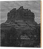 Bell Rock In Black White Wood Print