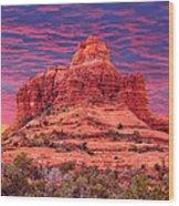 Bell Rock Sunset Wood Print