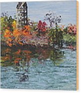 Bell Tower At The Botanic Gardens In Autumn Wood Print