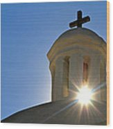 Bell Tower Sun Burst  Tumacacori Mission Wood Print