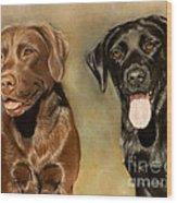 Bella And Sophie Wood Print