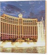 Bellagio Las Vegas Wood Print