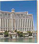 Bellagio Resort And Casino Panoramic Wood Print