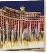 Bellagio Water Show Wood Print