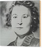 Belle Grand-mere Piche Wood Print