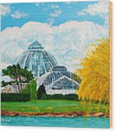 Belle Isle Conservatory Wood Print