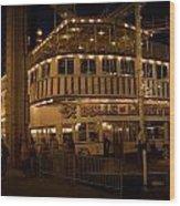 Belle Of Louisville Lights Wood Print