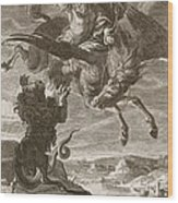 Bellerophon Fights The Chimaera, 1731 Wood Print
