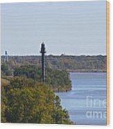 Bellevue Rear Range Lighthouse  Wood Print