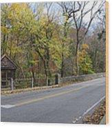 Bells Mill Road In Autumn Wood Print