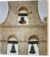 Bells Of Mission San Diego Wood Print