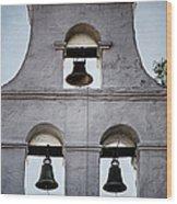 Bells Of Mission San Diego Too Wood Print