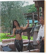 Belly Dancer And Performer At Morocco Pavilion Wood Print