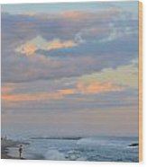 Belmar Nj Shore-evening-1 Wood Print