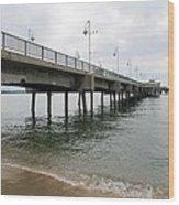 Belmont Shore Pier California Wood Print