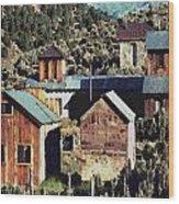 Belmont Town Wood Print