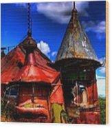 Belongs In Oz Wood Print