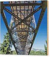 Below A Bridge Wood Print