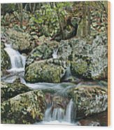 Below Mina Sauk Falls 1 Wood Print