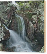 Below Mina Sauk Falls 4 On Taum Sauk Mountain Wood Print