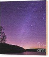 Below The Milky Way Wood Print
