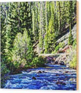 Belt Creek Wood Print