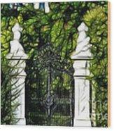 Belvedere Palace Gate Wood Print