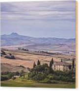 Belvedere Tuscany Wood Print
