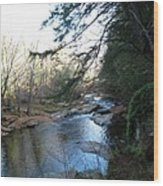 Belvidere Junction Stream Vermont Wood Print