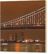 Ben Franklin Bridge Giant Panorama Wood Print