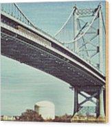 Ben Franklin Bridge Wood Print