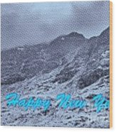 Ben Nevis Happy New Year Greeting Wood Print