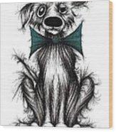 Ben The Dog Wood Print