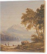 Ben Vorlich And Loch Lomond Wood Print by Anthony Vandyke Copley Fielding