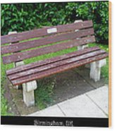 Bench 13 Wood Print