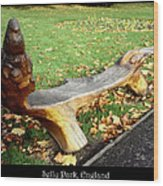 Bench 15 Wood Print