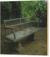 Bench Wood Print by Jennifer Burley