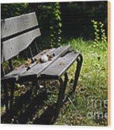 Bench Wood Print