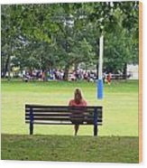 Bench Thoughts Wood Print