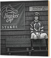 Benches For Jockeys Only Wood Print