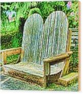 Benches II Wood Print