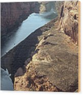 Bend In The Colorado River Wood Print