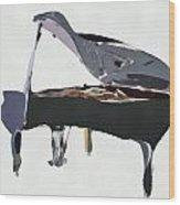 Bendy Piano Wood Print