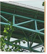 Beneath The Cut River Bridge Wood Print