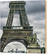 Beneath The Eiffel Tower Wood Print