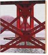 Beneath The Golden Gate Wood Print