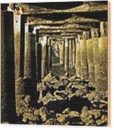 Beneath The Pier Wood Print