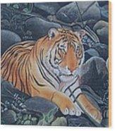Bengal Tiger Wild Life Realistic Painting Water Color Handmade Artwork India Uk Wood Print