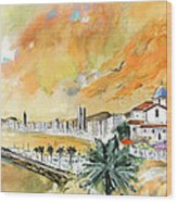 Benidorm Old Town Wood Print
