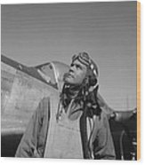 Benjamin Davis - Ww2 Tuskegee Airmen Wood Print